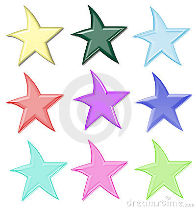 Free Colorful Stars Isolated Stock Photo - 4006170