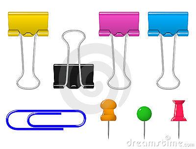 Colorful clamp pin clip stationery set