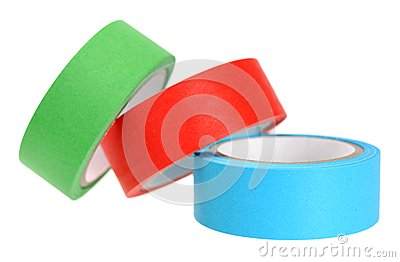 Colorful sticky tap rolls