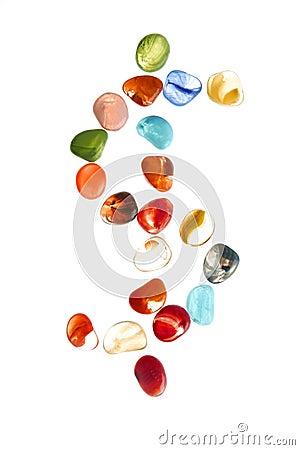 Free Colorful Stones With Dolar Mark Shape Stock Photos - 8414333