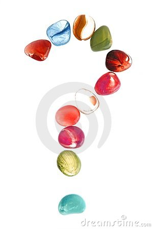 Free Colorful Stones With Question Mark Shape Stock Photos - 9005153