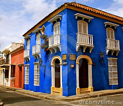 Colorful Street Corner, Cartagena de Indias