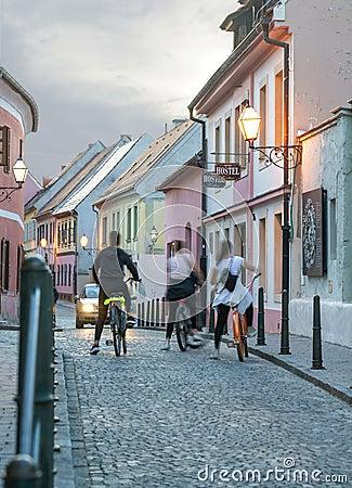 Free Colorful Street In Baroque Town Varazdin View, Tourist Destinati Royalty Free Stock Photos - 126900548