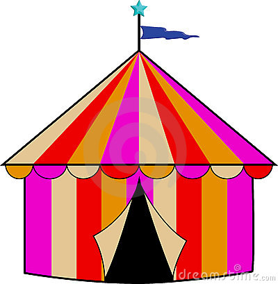 Colorful Striped Circus Tent