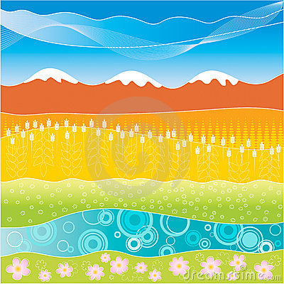 Free Colorful Striped Landscape Royalty Free Stock Photo - 5083035