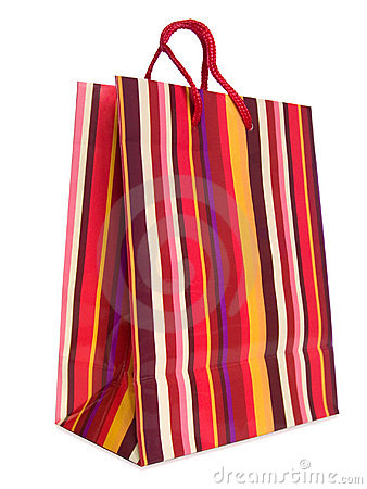 Free Colorful Striped Shopping Bag Royalty Free Stock Images - 2310969