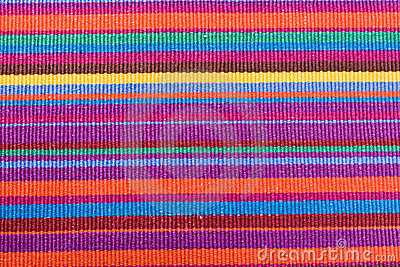 Colorful striped table cloth