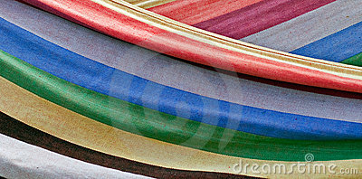 Colorful striped textile
