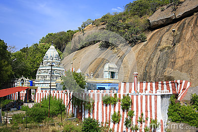 Colorful Stripes to an Indian Hindu Temple