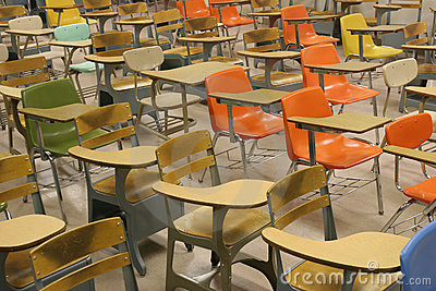 Colorful Student Desks