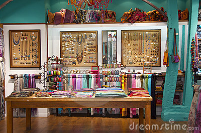 Colorful and stylish ethnic shop