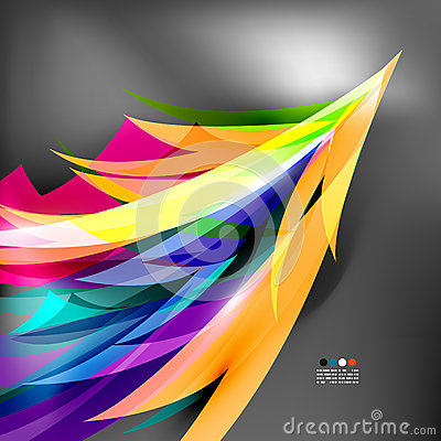 Colorful stylized parrot tail modern background