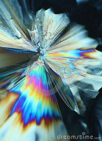 Colorful sugar crystals