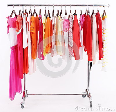 Colorful summer clothes