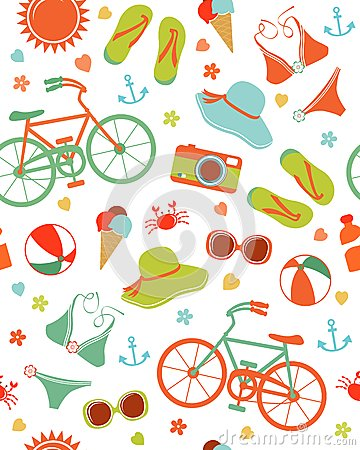 Colorful summer leisure pattern