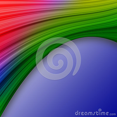 Colorful swath abstract