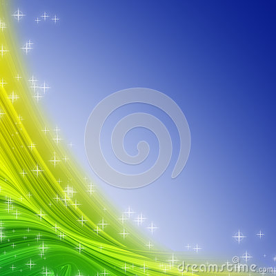 Colorful swath and star abstract
