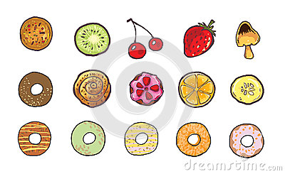 sweet food icon illustration