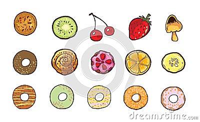 sweet food icon illustration