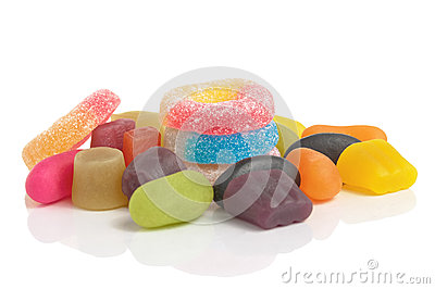 Colorful Sweets on White Background