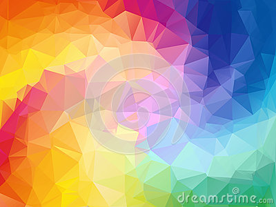 Colorful swirl rainbow polygon background. Colorful abstract vector. Abstract rainbow color Triangle Geometrical Vector Illustration
