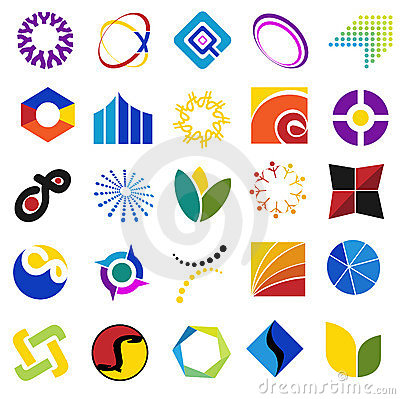 Colorful symbols