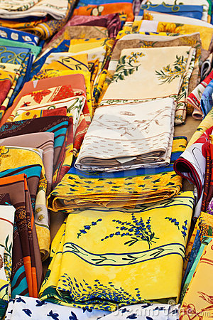 Colorful tablecloth, Provence