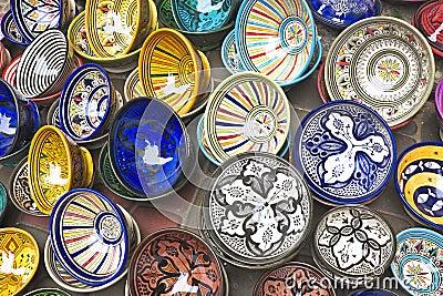 Colorful Tajines for sale