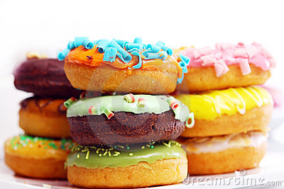 Colorful and tasty donuts