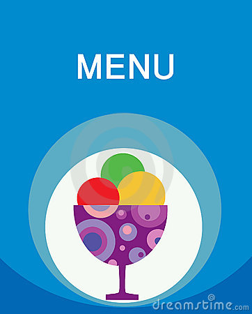 Colorful tasty ice-cream menu template