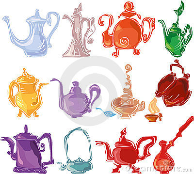 Colorful tea set