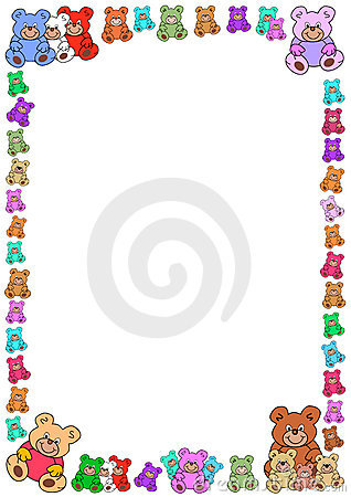 Colorful teddies border