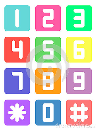 Free Colorful Telephone Number Royalty Free Stock Image - 69528216