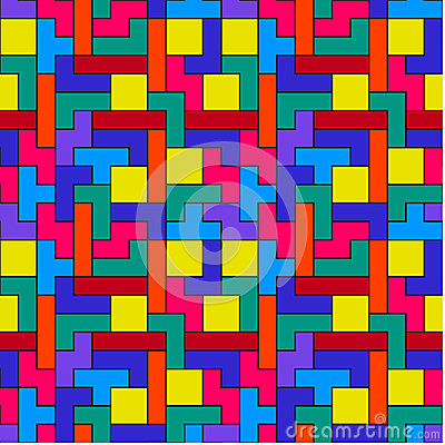 Colorful Tetris Pattern