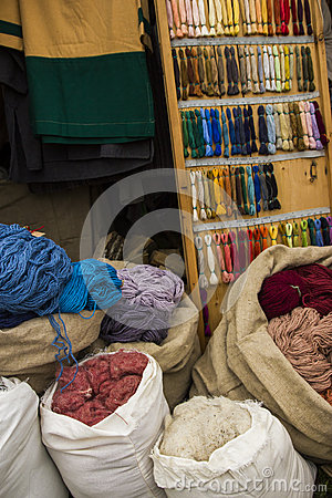 Colorful Textiles Workshop Royalty Free Stock Image - Image: 26139916