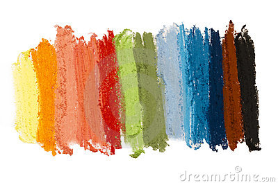 Colorful textture pastel sticks