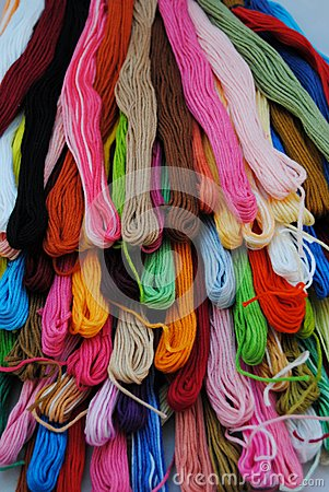 Free Colorful Threads Stock Images - 39706244