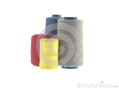 Colorful threads isolated on white
