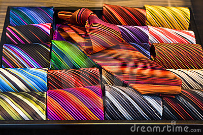 Colorful ties