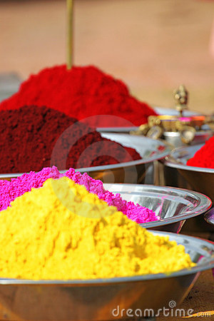 Colorful tika powders