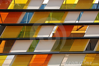 Colorful tinted glass