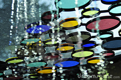 Colorful tinted glass design