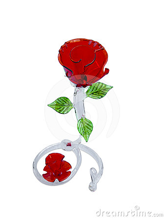 Colorful tinted glass rose