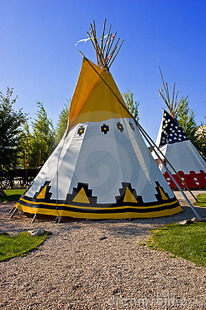 Colorful tipis