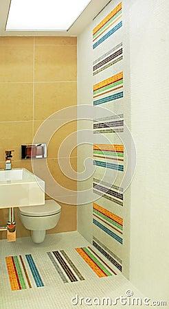 Colorful toilet angle