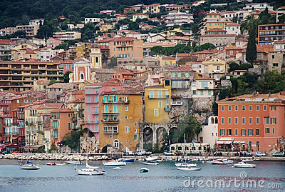 Colorful town and harbor