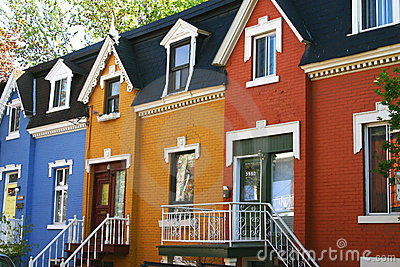 Colorful townhouses
