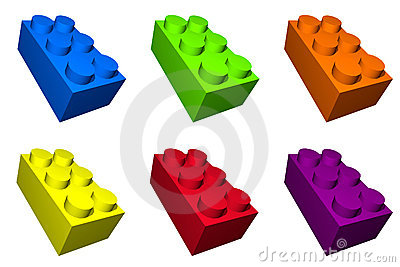 Colorful Toy Build Blocks for