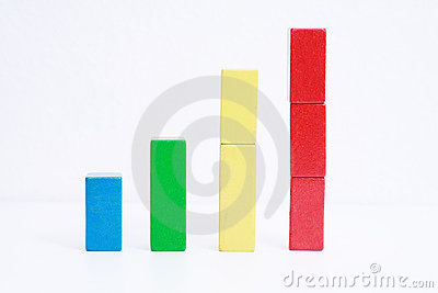 Colorful toy business chart