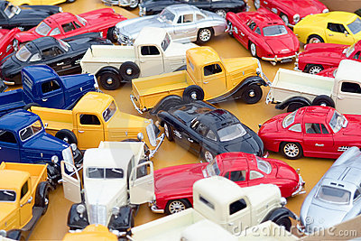 Colorful toy cars